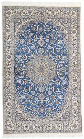 Nain 9La Matta 124X200 Äkta Orientalisk Handknuten Ljusgrå/Mörkgrå (Ull/Silke, Persien/Iran)