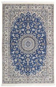 Nain 9La Matta 130X196 Äkta Orientalisk Handknuten Ljusgrå/Beige (Ull/Silke, Persien/Iran)