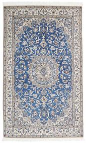 Nain 9La Matta 125X206 Äkta Orientalisk Handknuten Mörkgrå/Ljusgrå (Ull/Silke, Persien/Iran)