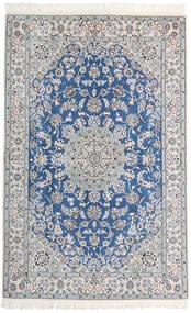 Nain 9La Matta 128X200 Äkta Orientalisk Handknuten Ljusgrå/Vit/Cremefärgad (Ull/Silke, Persien/Iran)