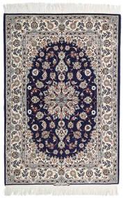 Isfahan Silkesvarp Signerad: Intashari Matta 110X162 Äkta Orientalisk Handknuten Ljusgrå/Mörklila (Ull/Silke, Persien/Iran)