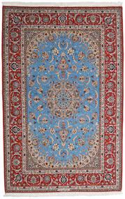 Isfahan Silkesvarp Matta 164X256 Äkta Orientalisk Handknuten Ljusgrå/Mörkbrun (Ull/Silke, Persien/Iran)