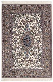 Isfahan Silkesvarp Signerad Sanai Dust Matta 152X225 Äkta Orientalisk Handknuten Ljusgrå/Beige (Ull/Silke, Persien/Iran)