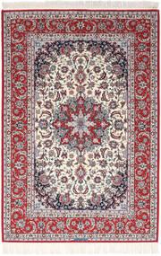 Isfahan Silkesvarp Signerad Exitashari Matta 152X226 Äkta Orientalisk Handknuten Mörkbrun/Ljusgrå (Ull/Silke, Persien/Iran)