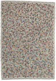Kelim Afghan Old Style Matta 205X296 Äkta Orientalisk Handvävd Ljusgrå/Mörkgrå (Ull, Afghanistan)