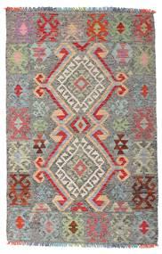 Kelim Afghan Old Style Matta 98X152 Äkta Orientalisk Handvävd Ljusgrå/Mörkgrå (Ull, Afghanistan)