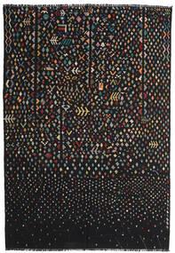 Kelim Moderna Matta 195X286 Äkta Modern Handvävd Svart/Mörkgrå (Ull, Afghanistan)