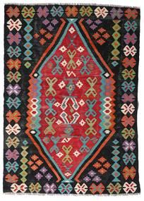 Kelim Afghan Old Style Matta 107X150 Äkta Orientalisk Handvävd Svart/Roströd (Ull, Afghanistan)
