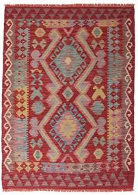Kelim Afghan Old Style Matta 106X147 Äkta Orientalisk Handvävd Mörkröd/Roströd (Ull, Afghanistan)