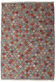 Kelim Afghan Old Style Matta 107X155 Äkta Orientalisk Handvävd Mörkgrå/Ljusgrå (Ull, Afghanistan)