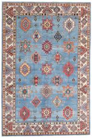 Kazak Matta 198X298 Äkta Orientalisk Handknuten Ljusblå/Beige (Ull, Afghanistan)