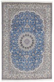 Nain 9La Matta 208X316 Äkta Orientalisk Handknuten Ljusgrå/Blå (Ull/Silke, Persien/Iran)
