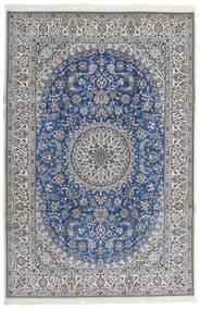 Nain 9La Matta 206X307 Äkta Orientalisk Handknuten Ljusgrå/Mörkgrå (Ull/Silke, Persien/Iran)
