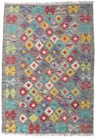 Kelim Afghan Old Style Matta 82X115 Äkta Orientalisk Handvävd Ljusgrå/Mörkgrå (Ull, Afghanistan)