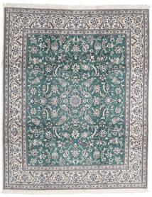 Nain 9La Matta 252X306 Äkta Orientalisk Handknuten Ljusgrå/Mörkgrå Stor (Ull/Silke, Persien/Iran)