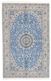 Nain 9La Matta 160X258 Äkta Orientalisk Handknuten Ljusgrå/Vit/Cremefärgad (Ull/Silke, Persien/Iran)