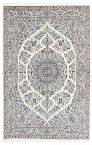 Nain 9La Matta 165X247 Äkta Orientalisk Handknuten Ljusgrå/Beige (Ull/Silke, Persien/Iran)