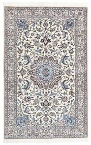 Nain 9La Matta 130X202 Äkta Orientalisk Handknuten Ljusgrå/Beige (Ull/Silke, Persien/Iran)