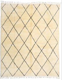 Berber Moroccan - Beni Ourain Matta 280X345 Äkta Modern Handknuten Beige/Mörkbeige Stor (Ull, Marocko)