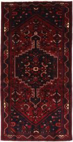 Hamadan Matta 102X205 Äkta Orientalisk Handknuten Mörkröd (Ull, Persien/Iran)