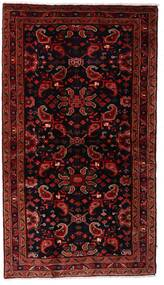 Hamadan Matta 108X194 Äkta Orientalisk Handknuten Mörkröd (Ull, Persien/Iran)