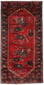 Hamadan Matta 102X193 Äkta Orientalisk Handknuten Mörkröd/Mörkbrun (Ull, Persien/Iran)