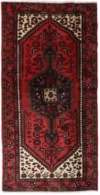 Hamadan Matta 102X202 Äkta Orientalisk Handknuten Mörkröd (Ull, Persien/Iran)
