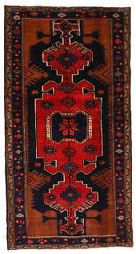 Hamadan Matta 102X198 Äkta Orientalisk Handknuten Mörkbrun/Roströd (Ull, Persien/Iran)