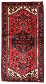 Hamadan Matta 101X192 Äkta Orientalisk Handknuten Mörkröd/Roströd (Ull, Persien/Iran)