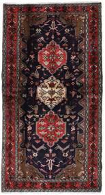 Hamadan Matta 104X196 Äkta Orientalisk Handknuten Mörkröd/Brun (Ull, Persien/Iran)