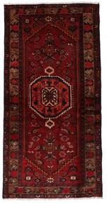 Hamadan Matta 99X196 Äkta Orientalisk Handknuten Mörkröd/Mörkbrun (Ull, Persien/Iran)
