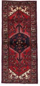 Hamadan Matta 95X219 Äkta Orientalisk Handknuten Hallmatta Mörkröd (Ull, Persien/Iran)
