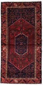 Hamadan Matta 97X202 Äkta Orientalisk Handknuten Mörkröd (Ull, Persien/Iran)