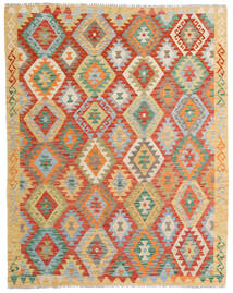 Kelim Afghan Old Style Matta 156X198 Äkta Orientalisk Handvävd Mörkbeige/Röd (Ull, Afghanistan)