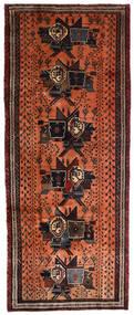 Afshar Matta 107X265 Äkta Orientalisk Handknuten Hallmatta Mörkbrun/Röd (Ull, Persien/Iran)