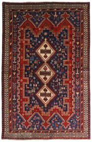Afshar Matta 146X224 Äkta Orientalisk Handknuten Mörkröd/Mörkblå (Ull, Persien/Iran)