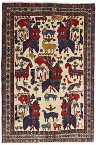 Afshar Matta 126X188 Äkta Orientalisk Handknuten Mörkgrå/Mörkröd (Ull, Persien/Iran)