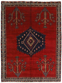 Afshar Matta 157X209 Äkta Orientalisk Handknuten Mörkröd/Röd (Ull, Persien/Iran)