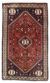 Abadeh Matta 56X93 Äkta Orientalisk Handknuten Mörkröd/Mörkgrå (Ull, Persien/Iran)