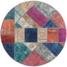 Patchwork - Persien/Iran Matta Ø 150 Äkta Modern Handknuten Rund Lila/Mörkblå (Ull, Persien/Iran)