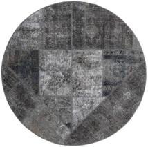 Patchwork - Persien/Iran Matta Ø 150 Äkta Modern Handknuten Rund Mörkgrå/Ljusgrå/Svart (Ull, Persien/Iran)