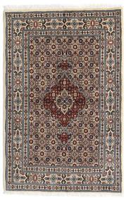 Moud Matta 80X122 Äkta Orientalisk Handknuten Mörkbrun/Beige (Ull/Silke, Persien/Iran)