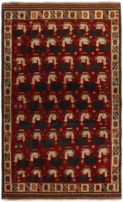 Ghashghai Matta 118X194 Äkta Orientalisk Handknuten Röd/Mörkröd (Ull, Persien/Iran)