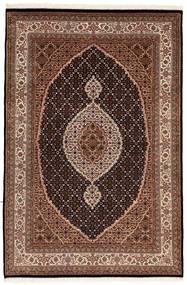 Tabriz Royal Matta 121X181 Äkta Orientalisk Handknuten Mörkbrun/Mörkröd ( Indien)