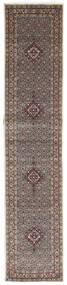 Moud Matta 82X393 Äkta Orientalisk Handknuten Hallmatta Ljusgrå/Beige (Ull/Silke, Persien/Iran)