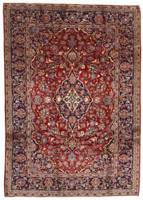 Keshan Matta 196X275 Äkta Orientalisk Handknuten Mörkröd/Mörkbrun (Ull, Persien/Iran)