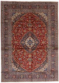 Keshan Matta 284X397 Äkta Orientalisk Handknuten Mörkröd/Mörkbrun Stor (Ull, Persien/Iran)