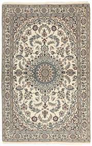 Nain 9La Matta 115X186 Äkta Orientalisk Handknuten Ljusgrå/Beige (Ull/Silke, Persien/Iran)