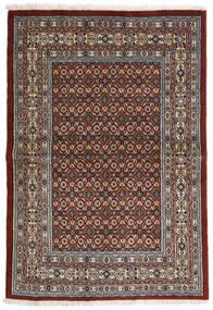 Moud Matta 97X141 Äkta Orientalisk Handknuten Mörkbrun/Mörkgrå (Ull/Silke, Persien/Iran)