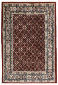 Moud Matta 99X146 Äkta Orientalisk Handknuten Mörkröd/Ljusgrå (Ull/Silke, Persien/Iran)